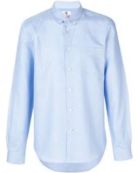 hellblaues Leinen Langarmhemd von Paul Smith