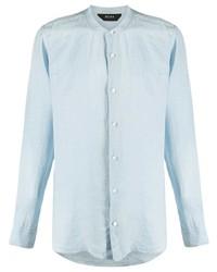 hellblaues Leinen Langarmhemd von Z Zegna