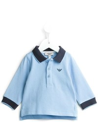hellblaues Polohemd von Armani Junior