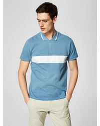 hellblaues Polohemd von Selected Homme