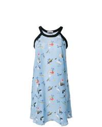 hellblaues schwingendes Kleid mit Blumenmuster von Vivetta