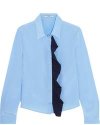 hellblaues Seidehemd von Prada