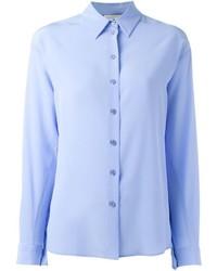 hellblaues Seidehemd von Stella McCartney