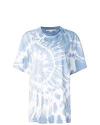hellblaues Mit Batikmuster T-Shirt mit einem Rundhalsausschnitt von Stella McCartney