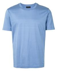 hellblaues T-Shirt mit einem Rundhalsausschnitt von D'urban