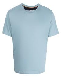 hellblaues T-Shirt mit einem Rundhalsausschnitt von Paul Smith