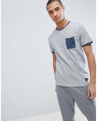 hellblaues T-Shirt mit einem Rundhalsausschnitt von Pier One