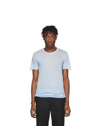 hellblaues T-Shirt mit einem Rundhalsausschnitt von Rick Owens
