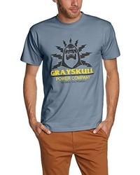 hellblaues T-Shirt mit einem Rundhalsausschnitt
