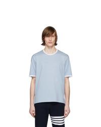 hellblaues T-Shirt mit einem Rundhalsausschnitt von Thom Browne