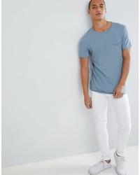 hellblaues T-Shirt mit einem Rundhalsausschnitt von Tom Tailor