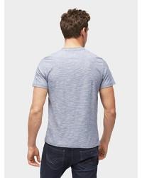 hellblaues T-shirt mit einer Knopfleiste von Tom Tailor