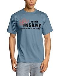Hellblaues T-Shirt mit Rundhalsausschnitt