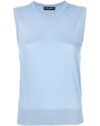 hellblaues Trägershirt von Dolce & Gabbana