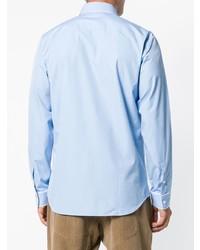 hellblaues vertikal gestreiftes Businesshemd von N°21