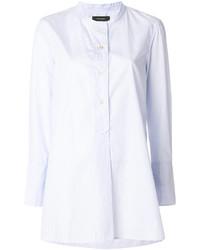 hellblaues vertikal gestreiftes Hemd von Isabel Marant