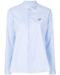 hellblaues vertikal gestreiftes Hemd von Kenzo