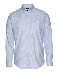 hellblaues vertikal gestreiftes Langarmhemd von Dockers