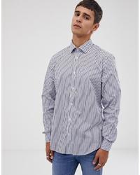 hellblaues vertikal gestreiftes Langarmhemd von Esprit