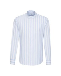 hellblaues vertikal gestreiftes Langarmhemd von Jacques Britt