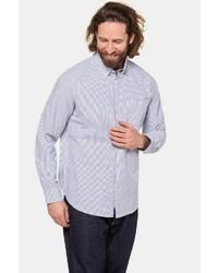 hellblaues vertikal gestreiftes Langarmhemd von JP1880