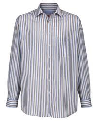 hellblaues vertikal gestreiftes Langarmhemd von ROGER KENT