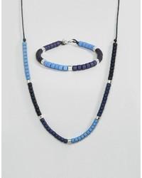 hellblaues Perlen Armband von Icon Brand