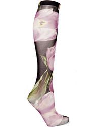 hellviolette bedruckte Socken von Dolce & Gabbana