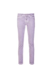 hellviolette enge Jeans von Twin-Set
