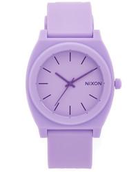 hellviolette Gummi Uhr von Nixon