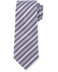 hellviolette horizontal gestreifte Krawatte