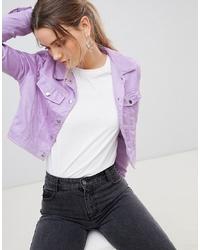hellviolette Shirtjacke von PrettyLittleThing