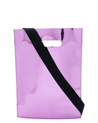 hellviolette Shopper Tasche aus Leder von MM6 MAISON MARGIELA