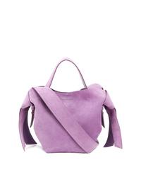 hellviolette Shopper Tasche aus Wildleder von Acne Studios