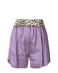 hellviolette Shorts von Forte Forte