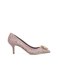 hellviolette Spitze Pumps von Dolce & Gabbana