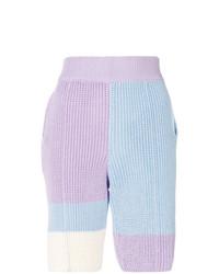 hellviolette Strick Bermuda-Shorts von Riccardo Comi