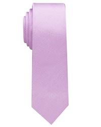 hellviolette vertikal gestreifte Krawatte von Eterna