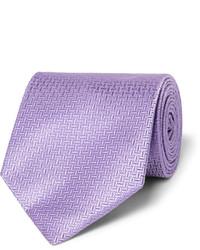 hellviolette vertikal gestreifte Krawatte von Hugo Boss