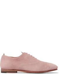 hellviolette Wildleder Derby Schuhe von Officine Creative
