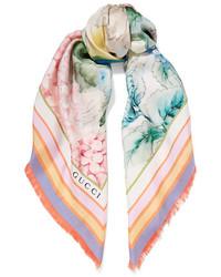 hellvioletter bedruckter Schal von Gucci