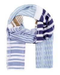 hellvioletter bedruckter Schal von Ichi