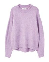 hellvioletter Oversize Pullover von Mango
