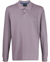 hellvioletter Polo Pullover von PS Paul Smith