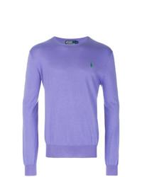 hellvioletter Pullover mit einem Rundhalsausschnitt von Polo Ralph Lauren