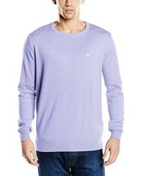 hellvioletter Pullover mit einem Rundhalsausschnitt von Tom Tailor