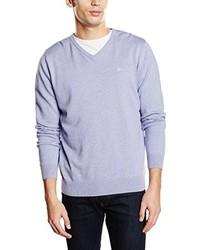 hellvioletter Pullover mit einem V-Ausschnitt von Tom Tailor