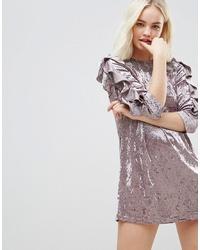 hellviolettes gerade geschnittenes Kleid von Hazel