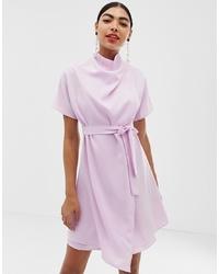 hellviolettes gerade geschnittenes Kleid von UNIQUE21