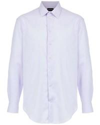 hellviolettes Langarmhemd von Emporio Armani